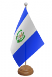Guatemala Desk / Table Flag with wooden stand and base